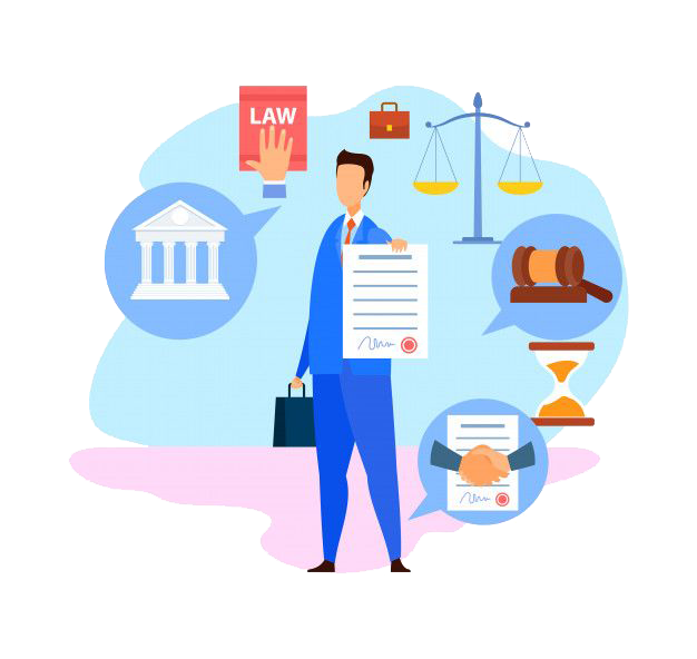 Business law services illustration